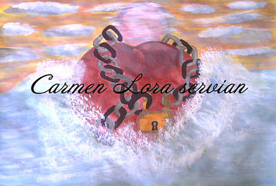 Mary Carmen Lora Servian Painting - Corazon De Mar by Mary Carmen Lora Servian
