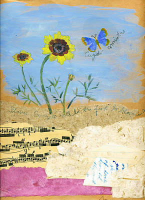 Music Score Mixed Media - Coreopsis by Sorana Tarmu