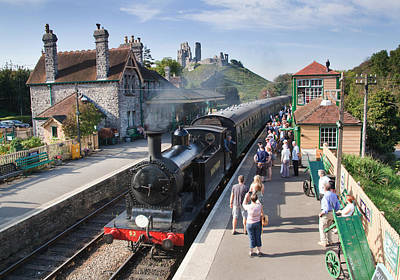 Photograph - Corfe Railway Station. by Ian Merton