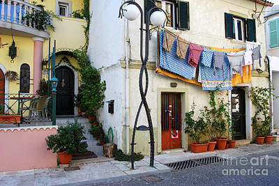 Photograph - Corfu Greece Street  by Eva Kaufman