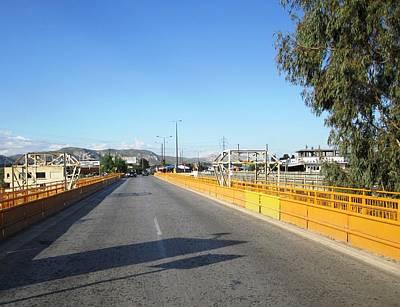 Photograph - Corinth Canal Highway Bridge Crossing In Greece by John Shiron