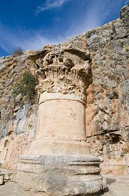 Zeus Photograph - Corinthian Capital by Photostock-israel