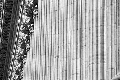 Print featuring the photograph Corinthian Columns by John Schneider