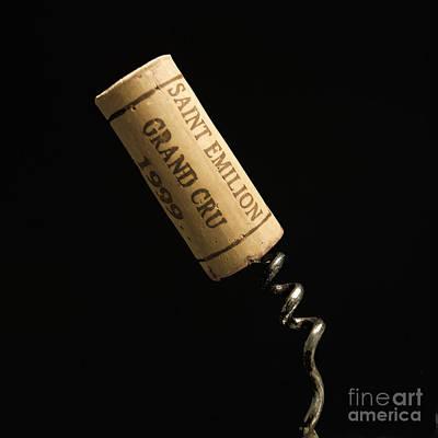 Cork Of Bottle Of Saint-emilion Art Print by Bernard Jaubert