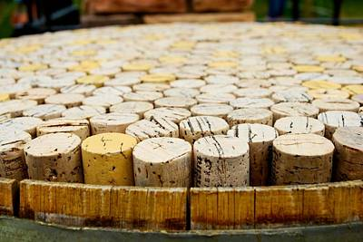 Wine Barrel Photograph - Corks by Calvin Wray