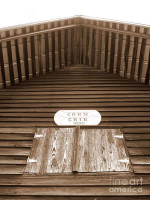 Corn Crib Art Print by Crystal June Norton