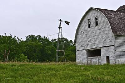 Print featuring the photograph Corn Crib by Edward Peterson