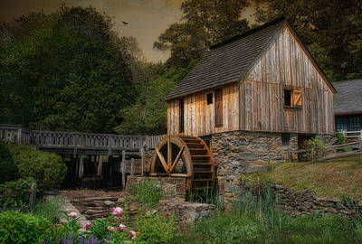Old Mills Photograph - Corn Meal Mill by Robin-Lee Vieira