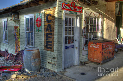 Corner Cafe Randsburg California Art Print by Bob Christopher