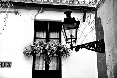 Art Print featuring the photograph Corner Light Black And White by Rick Bragan