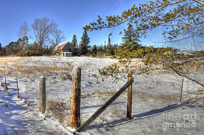 Photograph - Corner Post by Whispering Feather Gallery