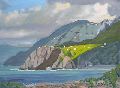 Corniglia Cinque Terra Italy Art Print by Len Stomski