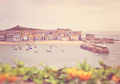 Y120831 Photograph - Cornish Harbor by Photo - Lyn Randle