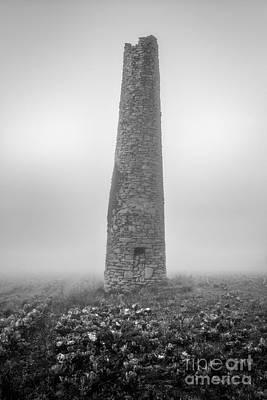 Cornish Mine Chimney Art Print