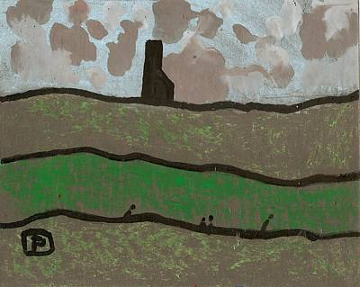 Cornwall Tin Mine Art Print
