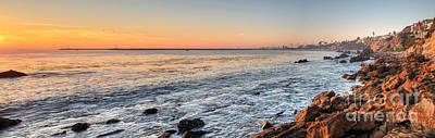 Photograph - Corona Del Mar Shoreline by Eddie Yerkish