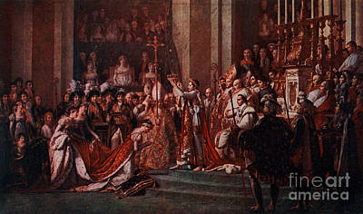Coronation Of Napoleon, 1804 Art Print by Photo Researchers