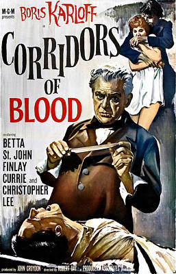 1958 Movies Photograph - Corridors Of Blood, Boris Karloff, 1958 by Everett