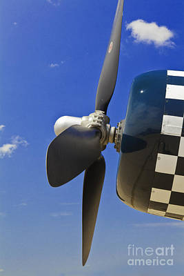 Photograph - Corsair Fighter Propeller by M K Miller