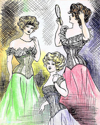 Corset Ladies Art Print by Mel Thompson