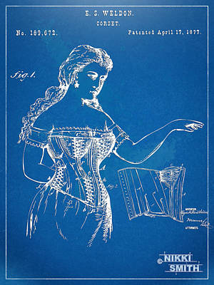 Forms Digital Art - Corset Patent Series 1877 by Nikki Marie Smith