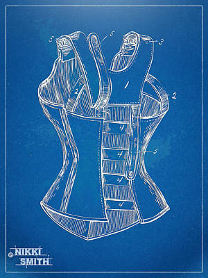 Forms Digital Art - Corset Patent Series 1894 by Nikki Marie Smith