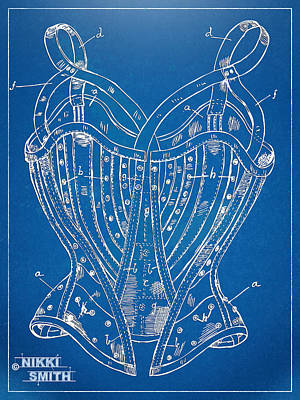 Forms Digital Art - Corset Patent Series 1905 French by Nikki Marie Smith