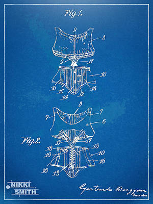 Forms Digital Art - Corset Patent Series 1907 by Nikki Marie Smith