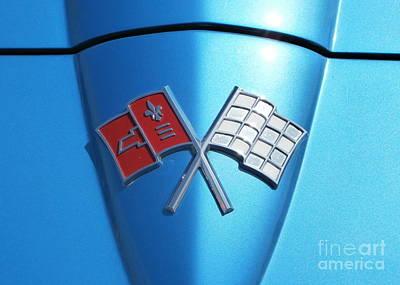 Corvette Crossed Flags Art Print by Karyn Robinson