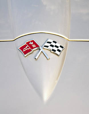 Photograph - Corvette Emblem by Glenn Gordon