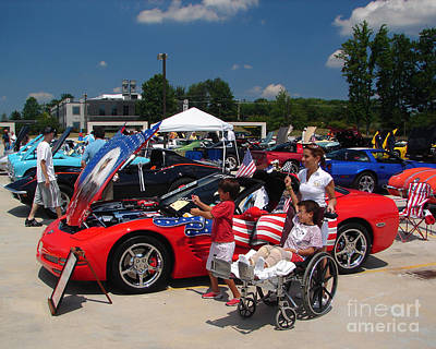 Photograph - Corvette Show by Jack Moskovita