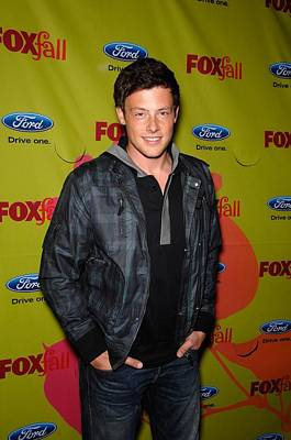 Windbreaker Photograph - Cory Monteith At Arrivals For Fox Fall by Everett