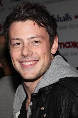 Cory Monteith At In-store Appearance Art Print by Everett