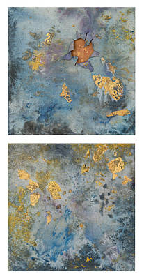 Painting - Cosmic 25 Diptych Example by Rita Bentley