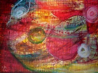 Cosmic Eggs Art Print by Oriya Rae
