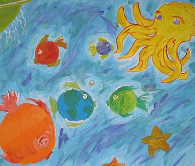 Cosmic Ocean Art Print by Yshua The Painter