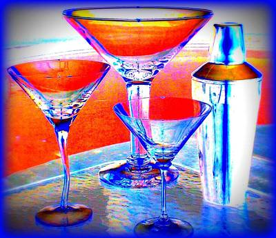 Martini Shaker Photograph - Cosmo Poolitans by Randall Weidner
