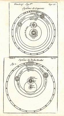 Cosmologies Of Copernicus And Tycho Print by Detlev Van Ravenswaay