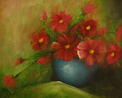 Painting - Cosmos Acrylic Painting by Cindy Wright