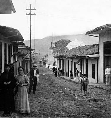 Historia Wall Art - Photograph - Costa Rica - Village Street Scene - C 1905 by International  Images