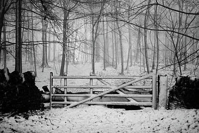 Gate Photograph - Cotswolds Winter by Andrew Lockie
