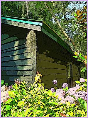 Cottage At Magnolia Plantation Art Print by Mindy Newman