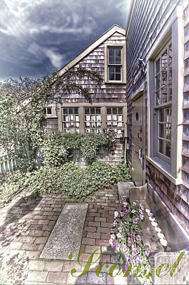 Art Print featuring the photograph Cottage Garden - 'sconset Nantucket by Jack Torcello