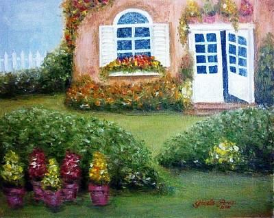 Gizelle Perez Painting - Cottage House by Gizelle Perez