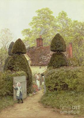 Cottage Near Pinner Art Print by Helen Allingham