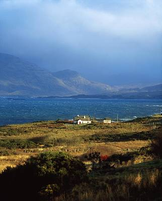 The Sea Of Tranquility Photograph - Cottage Near Renvyle, Connemara, Co by The Irish Image Collection