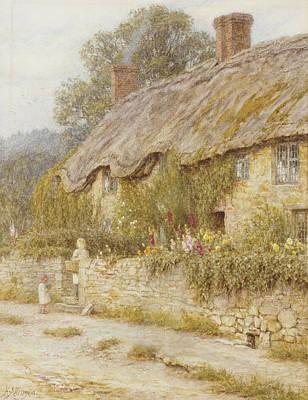 Cottage Near Wells Somerset Art Print by Helen Allingham
