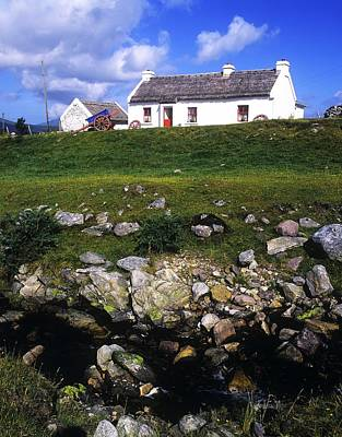 Cottage On Achill Island, County Mayo Art Print by The Irish Image Collection