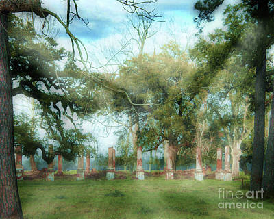 Digital Art - Cottage Plantation Ruins On  Great River Road La by Lizi Beard-Ward