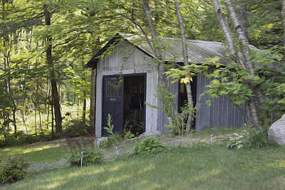 Cottage Shed Art Print by Michel DesRoches